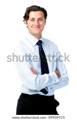 Confident portrait of a professional in a shirt and tie - stock photo