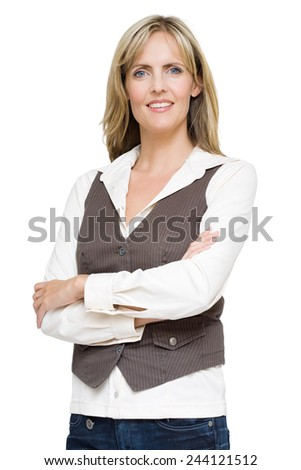 Confident 40 year old woman. - stock photo