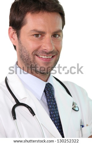 Confident young doctor - stock photo