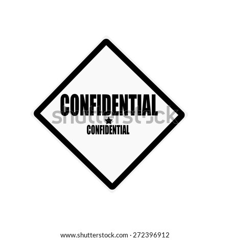 Confidential black stamp text on white background - stock photo