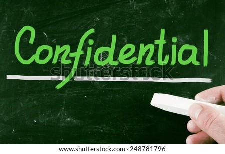 confidential concept - stock photo