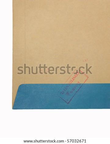 Confidential document 12 - stock photo