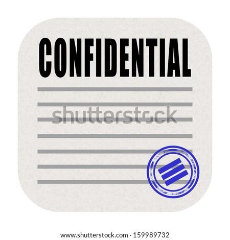 Confidential document icon - stock photo