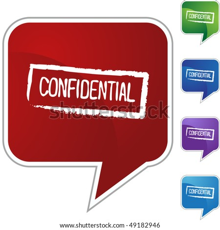Confidential Ink Stamp