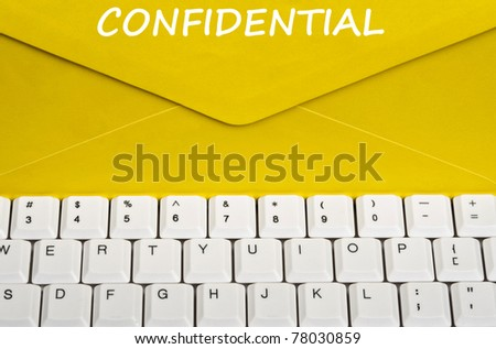 Confidential message on envelope - stock photo