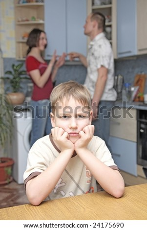 conflict in family - stock photo