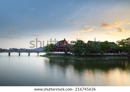 Confucius Temple in Kaohsiung, Taiwan - stock photo