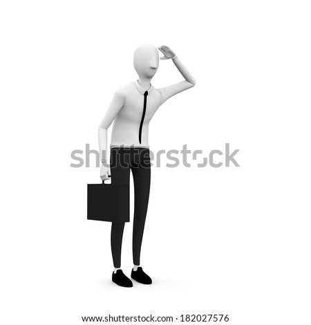 confuse businessman - stock photo