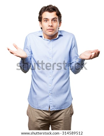 confused businessman doubting - stock photo