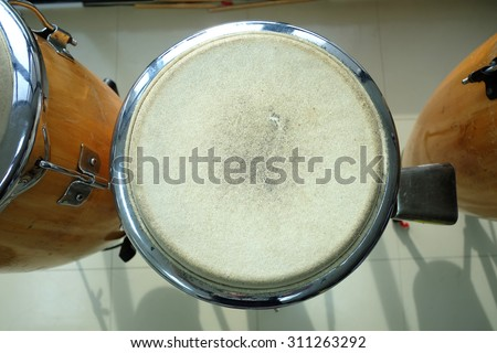 congas the percussion drum camp  - stock photo