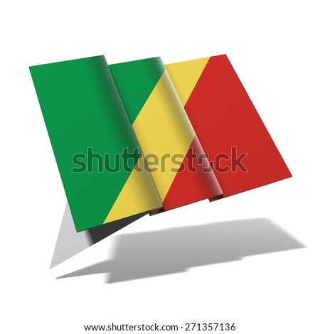 Congo flag 3D banner - stock photo