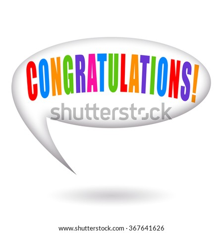 Congratulations - stock photo