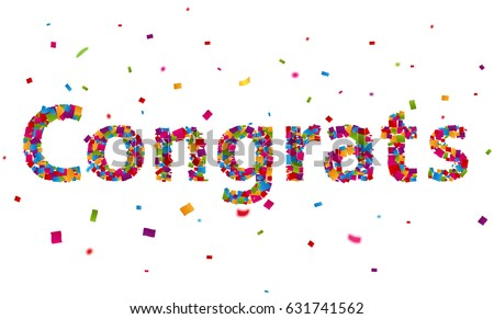 Congratulations word stock images royalty free images vectors congratulations banner with colorful confetti pronofoot35fo Images