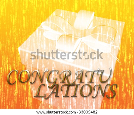 Congratulations festive special occasion celebration abstract illustration - stock photo