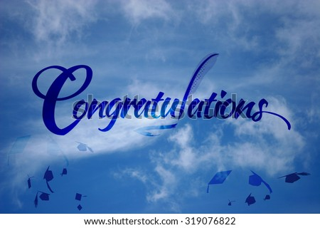 Congratulations Background Blue