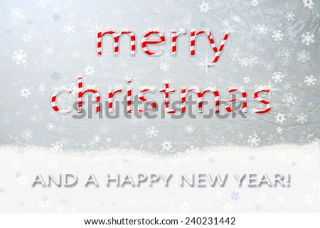 congratulations on Merry Christmas and Happy New Year - stock photo