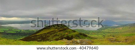 Conic Hill and Loch Lomond - stock photo