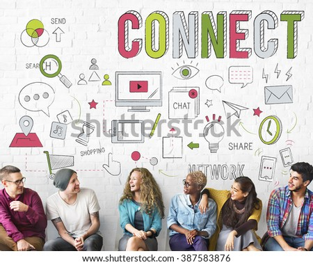 Connect Connection Browsing Internet Networking Concept - stock photo