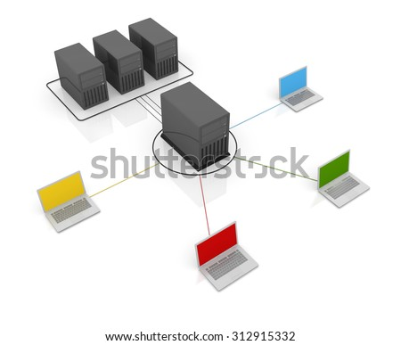 Connect to server , This is a computer generated and 3d rendered image.