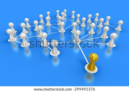 connected friends concept 5 - stock photo