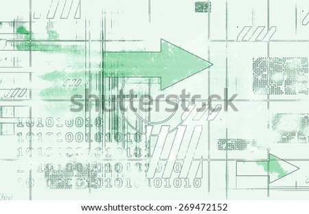 Connected Network System Worldwide Technology as Art background - stock photo