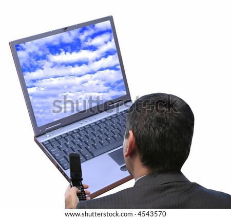 Connecting - stock photo
