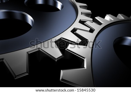 Connection concept. 3d gears. - stock photo