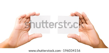 connection concept. hands with pieces of puzzle on white background, clipping path - stock photo