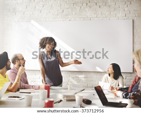 Connection Corporate Brainstorming Togetherness Concept - stock photo