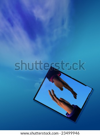 Connection Image - stock photo
