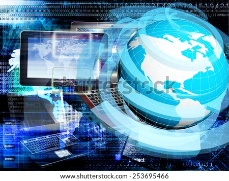 Connection Internet technologies - stock photo