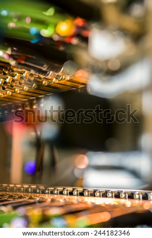 Connectors for network cables - stock photo