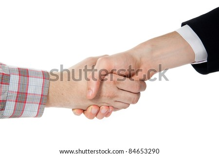 consensus on white background - stock photo