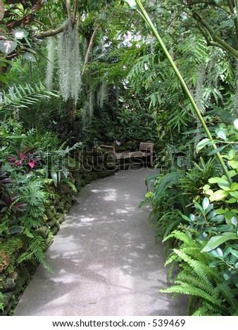 Conservatory Path - stock photo
