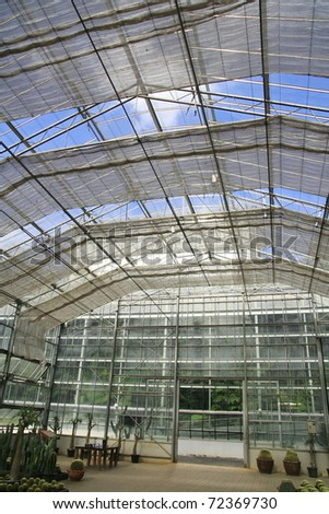 conservatory  roof - stock photo