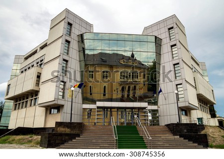 CONSTANTA, ROMANIA - AUGUST 22, 2015. Court of Law building in Constanta City, Romania. - stock photo