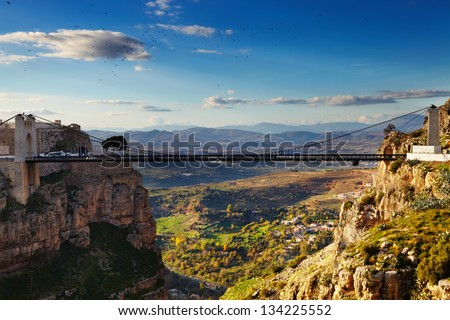 Constantine, the City of Bridges, Algeria - stock photo