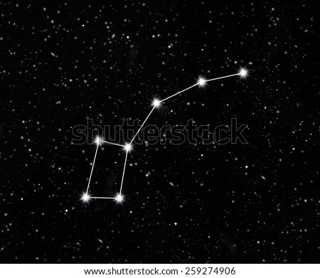 constellation little Dipper against the starry sky - stock photo