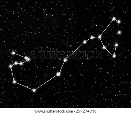 constellation Scorpius against the starry sky - stock photo