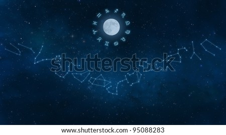 Constellations of the Zodiac - stock photo
