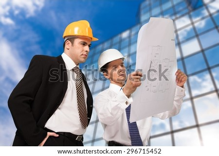 Construction, Architect, Engineer. - stock photo