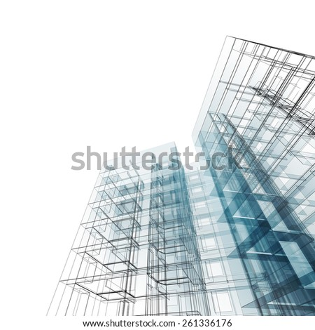 Construction Blueprint My Design Model Stock Illustration