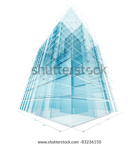 Construction architecture industry. 3d render - stock photo