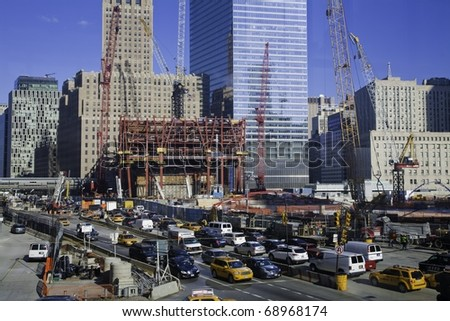 Construction at the World Trade Center site 2010 - stock photo
