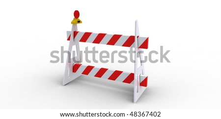 construction barricade - road block icon, isolated