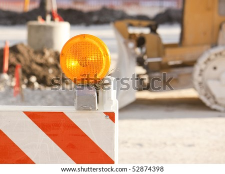construction blockade - stock photo