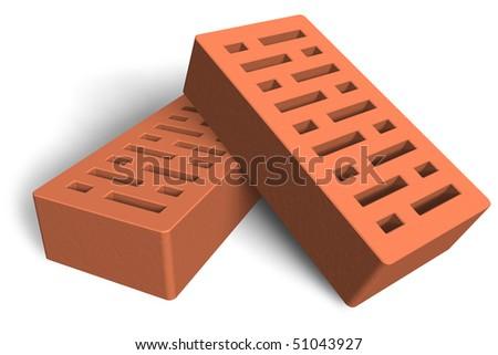 Construction bricks - stock photo