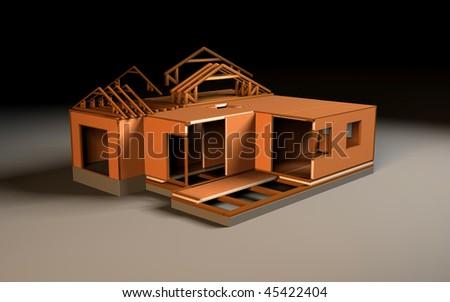 construction building - stock photo