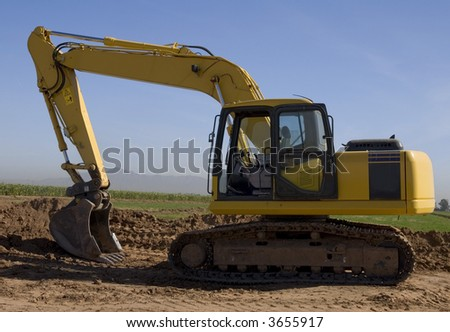 Construction Bulldozer - stock photo