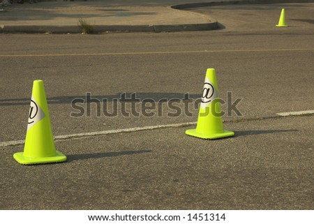 Construction cones on information highway